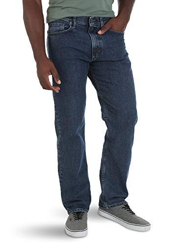 a07d5e54cf451 Wrangler Authentics Men's Comfort Flex Waist Relaxed Fit Jean, Dark  Stonewash 30x34