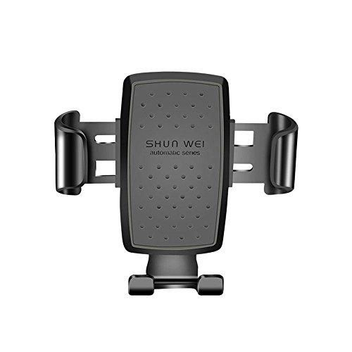 Teepao Universal-Halterung für Smartphones und Lüftungsschlitze, mit ABS- und PC-Material, Handy-Halterung, kompatibel mit den meisten Handys und elektronischen Geräten Schwarz
