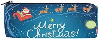 Trousse Supports de forme cylindrique de Noël Happy Pattern Pen papeterie Pouch Sac avec fermeture à glissière Maquillage | Outlet Online