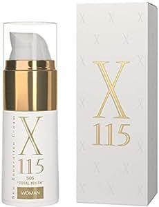 X115® Anti-Wrinkle + Anti-Ageing Face Cream | Airless Bottle 15 ml | MOISTURIZING: Hyaluronic Acid + Hydrolyzed Collagen + Allantoin + Pantenol | LIFTING: GABA + Esapeptides | REDENSIFYING: Shea Butter + Argan Oil + Retinol + Vitamin C & E