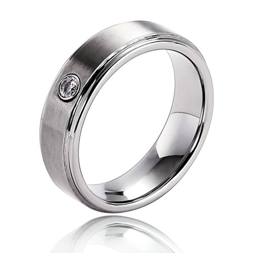 epinki-mens-tungsten-ring-cubic-zirconia-step-down-edges-brushed-line-sideway-silver-size-h-1-2