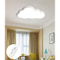 LIUNIAN Ultra-Thin Ceiling Light Led 5cm Creative Clouds Cartoon Simple Ceiling Lamp Lighting for Boys Girls Bedroom Kindergarten, Warm White Light, 36W