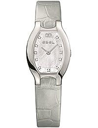 Ebel Women's Grey Leather Band Steel Case Swiss Quartz MOP Dial Watch 1216209