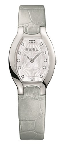 Ebel Women's Grey Leather Band Steel Case Swiss Quartz MOP Dial Watch 1216209