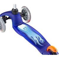 Scoot Jungen Deck Griff und Aufkleber (blau)