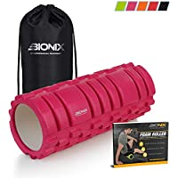 Exercise Foam Roller Kit with Travel Bag and eBook Instructions | Hollow and Firm for Neck, Shoulders, Hips, Legs and Back Pain Relief | Stretch and Soothe Sore Muscles Post Workout