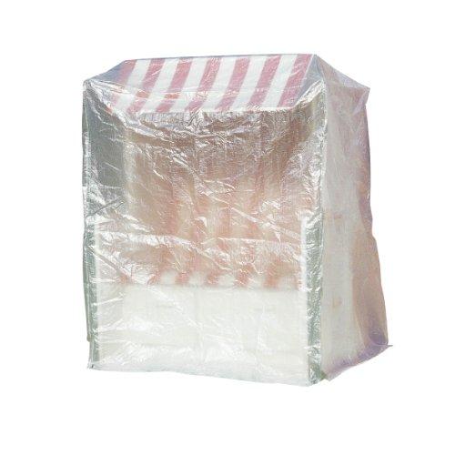 Greemotion Schutzhülle für Strandkorb wasserabweisen mit Ösen, Transparent, 180x1350x115cm