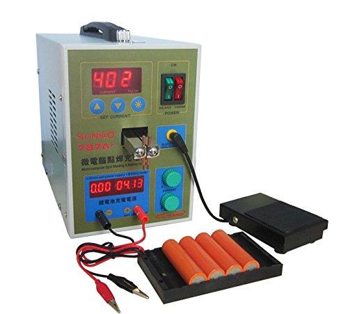 cgoldenwall LED Pulse Akku Spot Welder Mikro Punktschweißung machine18650Micro Schweißen mit LED-Licht + Nickel + Akku Clamp 787A +