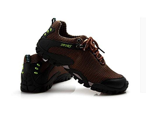 HYLM Summer Outdoor Scarpe da escursione Tempo libero Sport Scarpe Net Scarpe grandi escursionismo Size 46 Brown