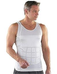 ZURU Bunch Slimming Tummy Tucker Slim & Lift Body Shaper Vest/Men's Undershirt Vest To Look Slim Instantly :-White...