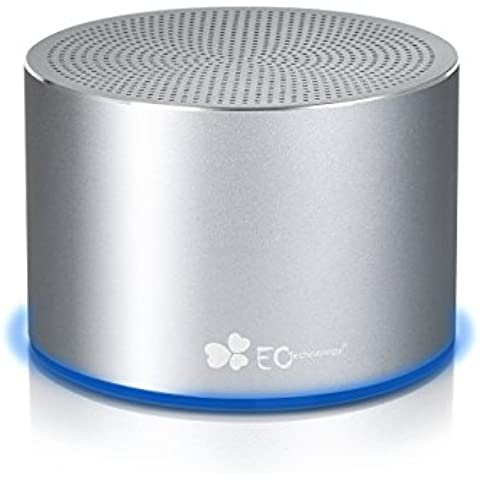 EC Technology Parlante Altavoz Inalámbrico Bluetooth de hasta 15 Horas de Tiempo de Reproducción para Teléfonos Inteligentes, PC y Láptops