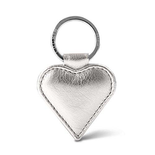 Lucrin - Porte-clés cœur - Cuir Métallisé