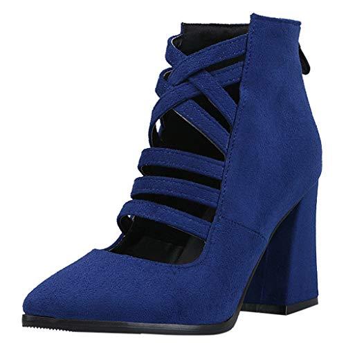JUSTSELL_Schuhe für Damen,Frauen Aushöhlen Einzelne Schuhe Einfarbig Wies Einzelne Schuhe Cross Temperament Highheel Schuhe