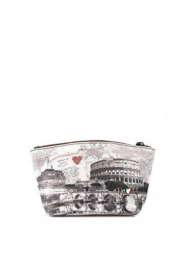 Y NOT? - Borsa donna astuccio pochette beauty small g-308 roma love letter