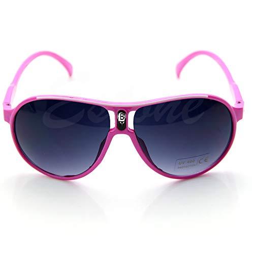Kinder-Sonnenbrille, niedlicher PC-Rahmen, AC Linsen, UV 400, Cool Sonnenbrille rose