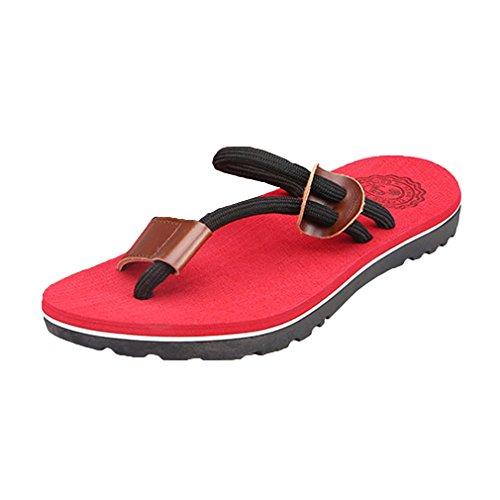 Outdoor-rutschfeste Sandalen Flachen Sandalen Stil Strand Schuhe Dual-Use für Männer und Frauen, asiatische 36-45 (5 Farben: Khaki, Schwarz, Dunkelblau, Braun, Rot)