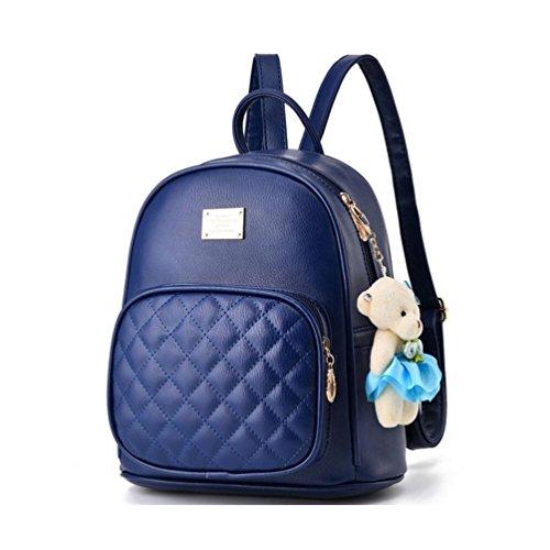XibeiTrade ,  Mädchen Damen Rucksackhandtaschen dunkelblau