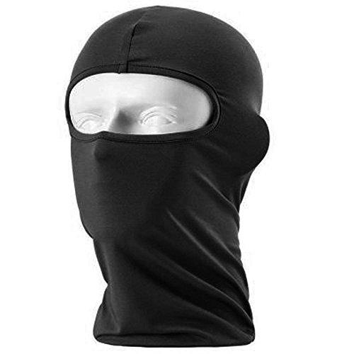 1foro maschera passamontagna leggero Airsoft Paintball Army verde o nero della testa, Black