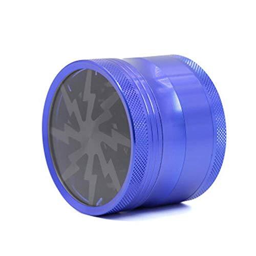 Premium-Aluminium-Schleifer mit Sichter und Magnetverschluss Tragbare Lightning Design Grinder Metalldeckel Mühlenbrecher für Dry Herb Tobacco Spice 2,5 Zoll,5 -
