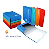 Blasetti One Color Plasticized cardboard Blue folder - Folders (Plasticized cardboard, Blue, A4, 7 cm, 250 mm, 360 mm)