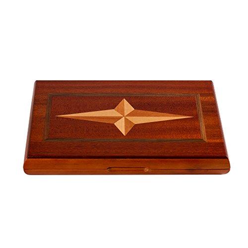 Once ZY Time Luxus Kreuz Wooden Backgammon Set Falten Traditionelle Brettspiel Pädagogische Spielzeug Kinder Erwachsene Geschenk Classic Kassette 28 cm / 11 Zoll