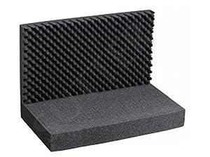 Tapis de mousse avec cube Grille/Surface supérieure et inférieure (3pièces)/Dimensions?: 43x 33cm/pour mallette en aluminium, valise mallette à armes Coffre à pistolet et fusil