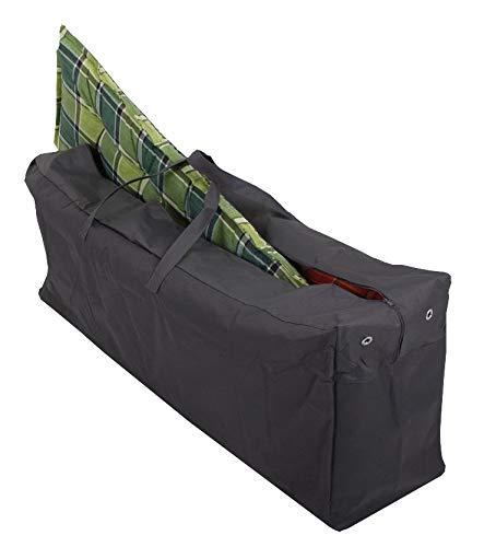 colourliving Schutzhülle für 4 Gartenmöbelauflagen Aufbewahrungstasche für Auflagen Kissentasche Robustes 420D Polyester anthrazit