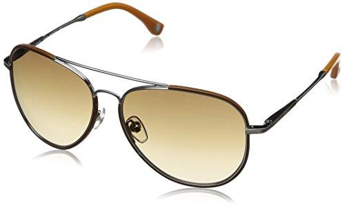 Michael Kors Damen MKS167 Oval Sonnenbrille, Silver/Brown frame / Beige lens (045)