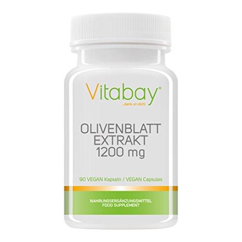 Olivenblatt Extrakt 1200 mg - 90 vegane Kapseln - Olea europaea hochdosiert mit 20% Oleuropein