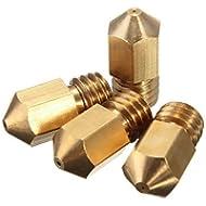 HICTOP 4 Variety Pack 3D-Drucker 0.2mm 0.3mm 0.4mm 0.5mm Düsen Extruderdüse Druckkopf für Mk8 MakerBot