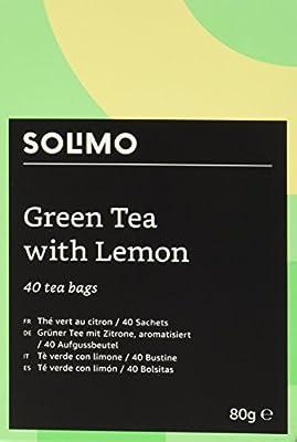 Marque Amazon - Solimo - Thé vert au citron - 40 sachets x6