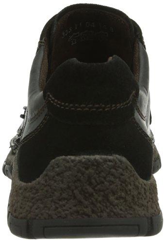 camel active  Bormio 11, Chaussures de ville à lacets pour homme Marron Braun (Mocca/Peat) Noir - Noir
