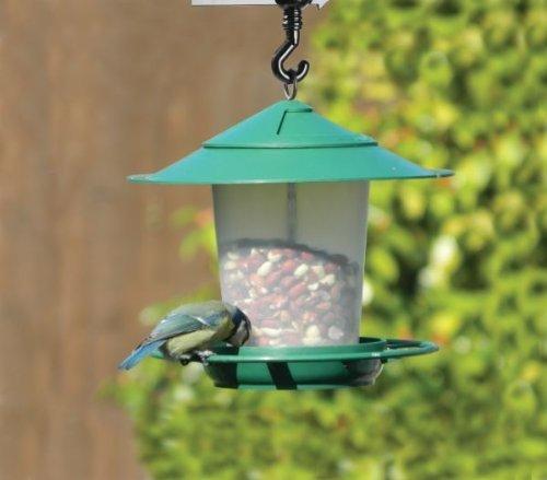 Farol colgante pájaro semillas-Comedero pájaros