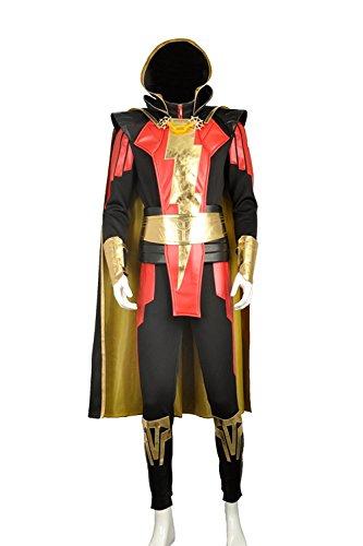 Webgame Shazam für Erwachsene Cosplay Kostüm Custom Made für Halloween Party Gr. Männlich XS, As (Made Kostüme Leder Custom)