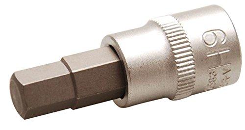 Bgs Bit Douille, 10 mm, 3/8, intérieur 6 pans, 9 mm, 2583