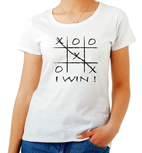 T-Shirt Femme Blanc OLDENG00275 TIC TAC Toe