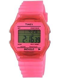 Timex Trend - Reloj digital de cuarzo para mujer con correa de resina, color rosa