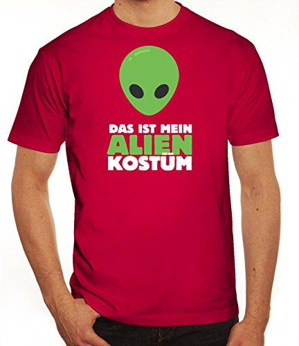 Fasching Karneval Herren T-Shirt mit Das ist mein Alien Kostüm 2 Motiv von ShirtStreet Sorbet
