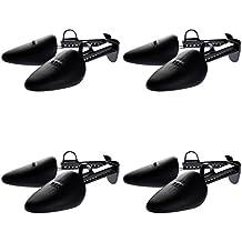 HIMRY® [4 pares] Hormas de zapato Plastico, para Hombre, Uno-Tamaño, negro, KXB6003-black-4x