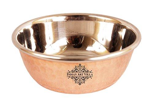 IndianArtVilla en Acier Cuivre Bol, ML| pour Restaurant Hôtel Home Vaisselle Vaisselle Cadeau