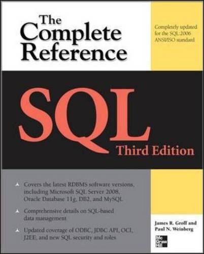 SQL The Complete Reference, 3rd Edition por James R Groff