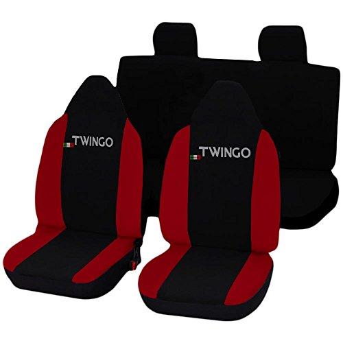 Lupex Shop Twingo_N.R Coprisedili, Nero/Rosso