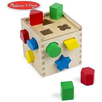 Melissa Doug 10575 Cube De Tri De Formes Amazonfr Jeux Et