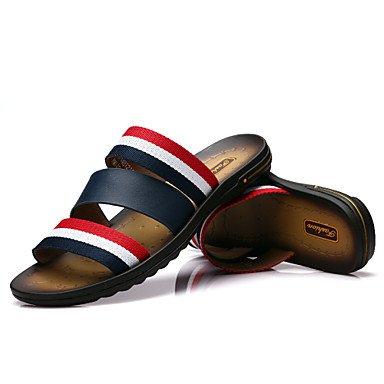 Sandales d'été chaussures d'hommes dehors / Athletic / Bleu Chaussons en cuir occasionnels Blue