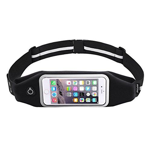 Handy Lauftasche, Mpow Sport Lauftasche Wasserdichte Sport Hüfttasche mit reflektierenden Streifen für iPhone 7/ 6 /6S /SE /5S /5 usw bis zu 6 zoll Test