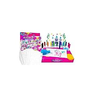 Airflow Art Magical World Set mit 12 Farben und Airflow-Stiftadapter - Airbrush Art - Girls Craft Toys