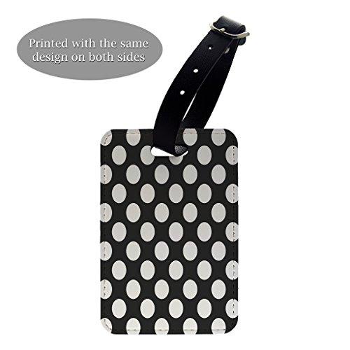 Dots Polka Gepäck-tags (Polka Dots Print Design Muster Gepäck Koffer Gepäck Tag–P53)