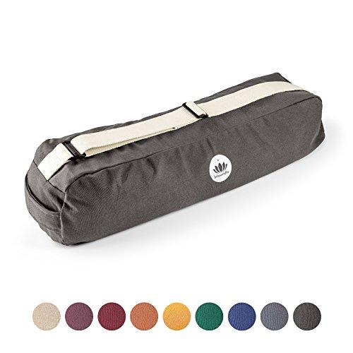 Lotuscrafts - Sac de yoga PUNE - commerce équitable/coton biologique - peut contenir tapis de yoga et accessoires