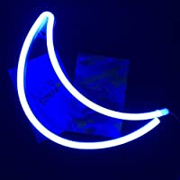Neon Light,LED Moon Sign Shaped Decor Light,Marquee Signs/Wall Decor for Chistmas,Birthday Party,Kids Room, Living Room, Wedding Party Decor
