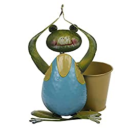 Wonderland Yoga Frog with Pot / planters (Garden Decor, Home Decorative, Gift Item)